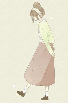 Anime Girl Cute, Anime Art Girl, Anime Girl Drawings, Cute Drawings, Kawaii Art, Kawaii Anime, Aesthetic Art, Aesthetic Anime, Character Art