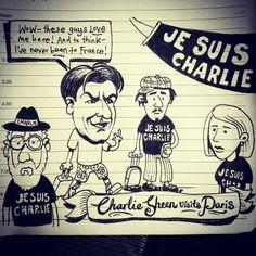 Charlie Sheen visits Paris post-Charlie Hebdo