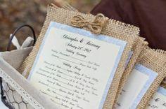Lavender and Ash: Burlap Wedding Decor programs