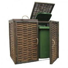 Deluxe Double Wheelie Bin Screen/ Store - something like this with sliding front doors?