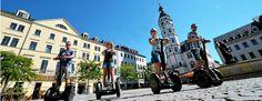 Mit dem Segway in Gera unterwegs. Foto: Peter Michaelis Villa, Street View, Gera, Pictures, Vacation, Fork, Villas