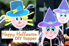 Halloween, Crafting with Kids, Cupcake Topper Happy Halloween, Halloween Diy, Halloween Decorations, Halloween Printable, Cupcakes, Cupcake Toppers, Free Printables, Crafts For Kids, Christmas Ornaments