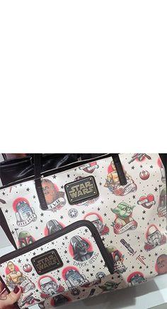 Loungefly Star Wars Tattoo Flash Tote Bag   Blame Betty