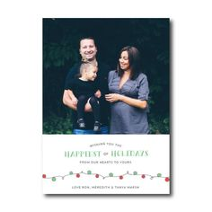 Marsh Family Holiday Christmas Photo Card Christmas Lights by Then Comes Paper :: RGV Moms Blog