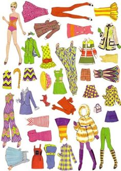 Twiggy paper dolls