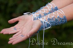 Bridal Fingerless Gloves  Crochet Gloves  Polymer by DeidreDreams, $55.00  @Joyce Novak Wilkins forarm corset?!