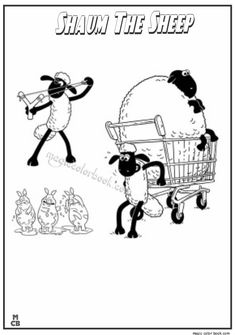 Shaun the sheep coloring pages for kids, printable free | Shaun the ...