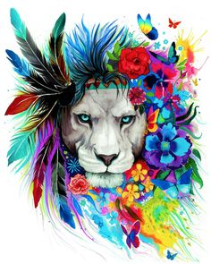 Tribal Lion Diamond Painting makes beautiful diamond art for animal lovers! This DIY diamond painting kit has everything you need to create a masterpiece: Trendy Tattoos, New Tattoos, Cool Tattoos, Dance Tattoos, Female Tattoos, Gorgeous Tattoos, Illustration Mode, Nature Illustration, Le Roi Lion