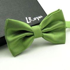 High Quality Men Fashion Solid Bowtie Wedding Butterfly Bow Tie Novelty Tuxedo Adjustable Necktie Yellow/Dark Green/Grass Green
