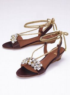 jeweled rope sandals