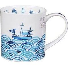 Lovely Dunoon Ceramics Anchors Away Orkney Style Mug