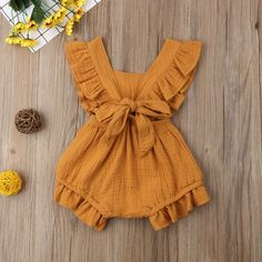 Sewing Baby Girl Ruffle Solid Romper - Perfect ruffled romper for your little fashionista 6 different colors available With snaps for easy diaper change Your baby girl deserves to look outstanding and get tons of compliments Little Fashionista, Baby Girl Fashion, Fashion Kids, Toddler Fashion, Fashion Fashion, Fashion Trends, Ruffle Romper, Baby Kind, Baby Baby