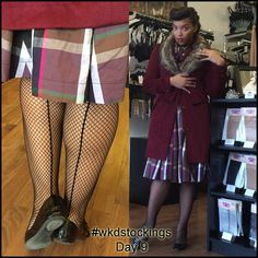 12 Days of Stockings Giveaway! Day 9: Ashleeta wears Fishnet Seamed Stockings All you need to do to enter is retweet, share, regram or pin our daily stocking images using #wkdstockings Each day we're posting a stocking image and randomly selecting a person every day to win the stockings featured. At the end we'll be pulling one name out of a hat to win all 12 pairs! Winners announced on What Katie Did Blog.
