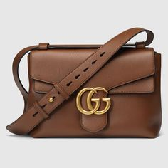 Gucci Women - GG Marmont leather shoulder bag - 401173A7M0T2548