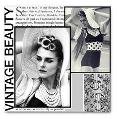 """""""Vintage Beauty"""" by hevsyblue2 ❤ liked on Polyvore"""