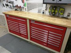 Build a garage workbench my auto shop build page 4 the garage journal board work bench . build a garage workbench Garage Tool Storage, Garage Tools, Garage Organization, Organization Ideas, Garage Bike, Organized Garage, Garage Plans, Garage Racking, Garage Systems