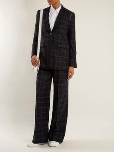 Caprice windowpane-checked wool-blend blazer | Elizabeth And James | MATCHESFASHION.COM US