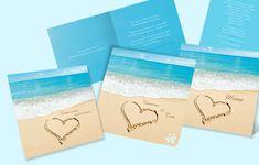 faiirepart de mariage mer et sable avec coeur - Le Blog Faire ...