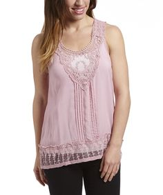 Love this Simply Irresistible Blush Pin Tuck Sleeveless Top by Simply Irresistible on #zulily! #zulilyfinds