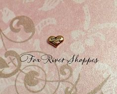 Maid of Honor Puffy Heart Gold Metal Floating Charm for Glass Lockets 61 by foxriverlocketshoppe. Explore more products on http://foxriverlocketshoppe.etsy.com