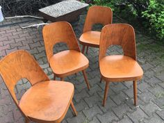Chairs from Ton; project of Oswald Heardtl 1960 from F'anapa design  #ton #chair #60s #modern #furniture #design