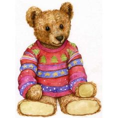 Image Library Designs Original illustrations occasions Christmas greetings cards Christmas Greeting Cards, Christmas Greetings, Teddy Bear Drawing, Tedy Bear, Happy Birthday Card Design, Bear Clipart, Bear Paintings, Bear Illustration, Boyds Bears