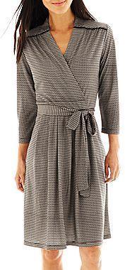 Liz Claiborne Faux-Wrap Dress on shopstyle.com