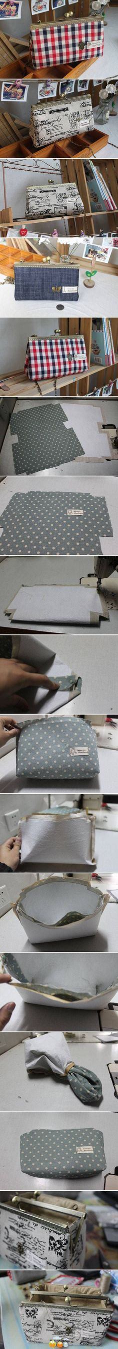 DIY Simple Handbag DIY Simple Handbag by diyforever Diy Handbag, Diy Purse, Clutch Purse, Diy Clutch, Purse Wallet, My Bags, Purses And Bags, Lv Pochette, Diy Sac