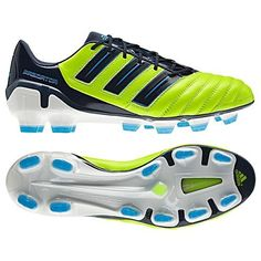 Adidas Predator Adipower FG Slime/Blue Leather Soccer Cleats Boots Men Shoes adidas. $154.99