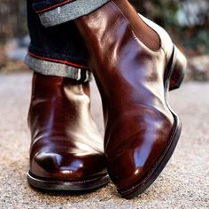 Chelsea Boots Outfit, Leather Chelsea Boots, Leather Boots, Leather Jackets, Black Prom Suits, Mens Business Casual Shoes, Gents Fashion, Man Fashion, Stylish Clothes