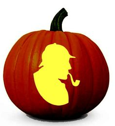 Carve your own Sherlock Holmes pumpkin for Halloween!