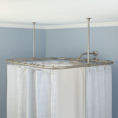 Square Ceiling Mount Shower Curtain Rod