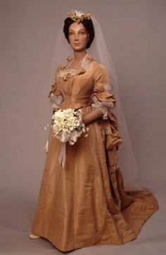 Wedding dress, 1874-1878, New York, via the Center for Jewish History.