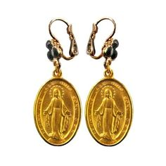 DOLCE & GABBANA - MADONNA EARRINGS ($150) ❤ liked on Polyvore featuring jewelry, earrings, accessories, hook earrings, dolce gabbana jewelry, earring pendants, earring jewelry and pendant earrings