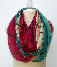 Infinity scarf Loop scarf Eternity scarf by PurpleSageDesignz