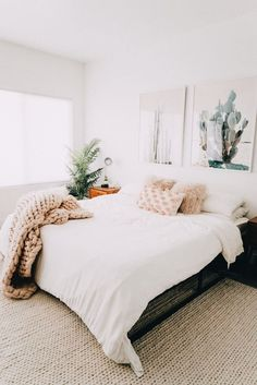 snuggly bed inspiration with LA and southwestern vibes