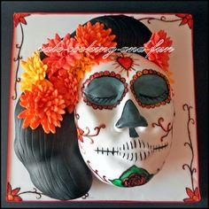 Dias de los Muertos Cake