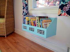 29 Rue House: Repurposed Kids Bookshelf