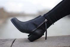ACNE pistol boots.