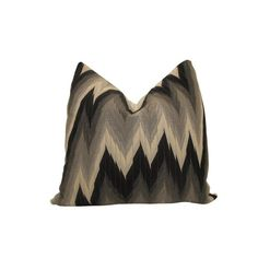 "Nena Von Chevron Pillow in Black and Gray 18"" x 18""  $37.95"
