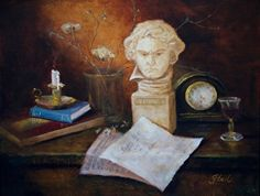 Beethoven R.I.P. at 56 by Valerie Gobeil Oil ~ 16 x 20