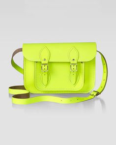 "Cambridge Satchel Company 11"" Leather Satchel, Yellow"