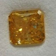 Other - Radiant cut natural fancy yellow diamond of > 6 ct