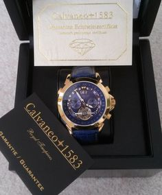 c7f91116047 Catawiki Online-Auktionshaus  Calvaneo Astonia Gold Diamond Blue - Herrenuhr