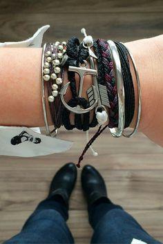 Stacking bracelets. I'm more bracelet than man now.