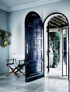 Entry / blue door