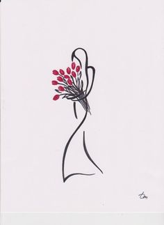 "Saatchi Art Artist Tatyana Markovtsev; Drawing, ""tulips"" #art"