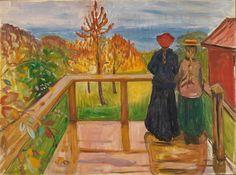 Edvard Munch Auf der Veranda