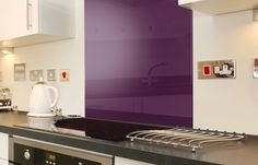 Purple Kitchen Splashbacks adds a dash of colour