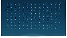 A preview of Bijou's 126 free icons.